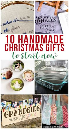 Get a head start on your gift making with this great list of handmade Christmas gifts you can start early!
