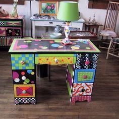 desk done by 2nd chance designs https://www.facebook.com/2ndChanceDesign or http://rebeccawaringcrane.com