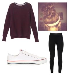 """Cute lazy day look"" by kassie-acker on Polyvore featuring Peace of Cloth, Victoria's Secret, Converse, LazyDay and outfits"
