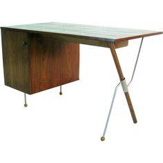 Rare Greta Grossman Desk   From a unique collection of antique and modern desks at https://www.1stdibs.com/furniture/storage-case-pieces/desks/