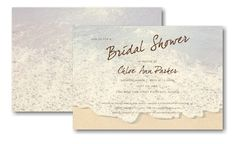 Sandy Toes Bridal Shower Invitation