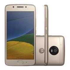 Smartphone Motorola Moto G5 XT1672 32GB Dourado Tela 5 Câmera 13MP Android 7.0 e as melhores ofertas você encontra aqui no Carrefour  12% de desconto até 31/03/2017
