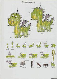 Схема брелка дракона - Животные - Схемы плетения бисером - Сокровищница статей - Плетение бисером украшений, деревьев и цветов, схемы мк