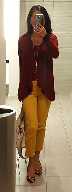 Work Outfits, Fall Outfits, Mustard Pants, Color Jeans, Yellow Pants, Colored Pants, Fall Dresses, Stitch Fix, Camel