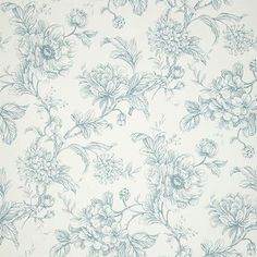 Aquitaine (AQUITAINE EAU DE NIL) - iliv Wallpapers - An elegant wallpaper featuring an all over, floral trailing design. Shown here in off white and pale blue. Other colourways are available. Please request a sample for a true colour match. Wallpaper Lounge, Flock Wallpaper, Botanical Wallpaper, Embossed Wallpaper, Wallpaper Panels, Striped Wallpaper, Rose Wallpaper, Fabric Wallpaper, Wallpaper Roll