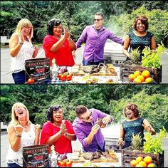 Filming LIVE on NBC TV. Filming coast to coast in 2017! Grilling in the heart of the deep south with my on-air BBQ partners in crime - The Friday FunCrew!  Making my mother proud on this television segment - As I devour a gargantuan dinosaur-sized T-bone steak like an apple in front of a few million viewing households! #nbd #ftw #makingmomproud  Stay hungry. Stay tuned. And grill onward! -David #imcominforyoubobbyflay :) . #chef #cheflife #manvswild #charbroil #grill #grilling #bbq #barbecue…