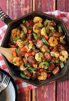 10. Shrimp and Sausage Skillet #greatist https://greatist.com/eat/whole-30-recipes-for-every-meal
