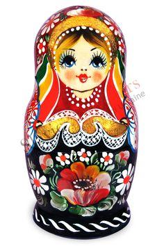 matryoshka dolls from russia | Russian Matryoshka (nesting dolls) - Flowers (31-03)