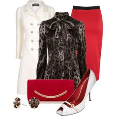 Red & Leopard, created by justbeccuz on Polyvore
