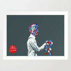 melting  Art Print by Elliot Swanson  - $13.00