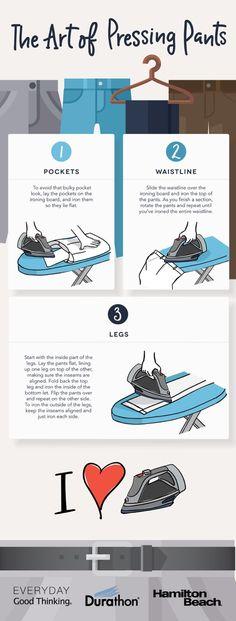 The Art of Pressing Pants