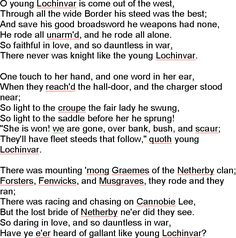 lochinvar poem introduction
