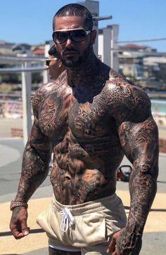 Tattoed Guys, Sexy Tattooed Men, Mens Body Tattoos, Hot Guys Tattoos, Just Beautiful Men, Beautiful Men Faces, Hot Men, Sexy Men, Greek God Tattoo