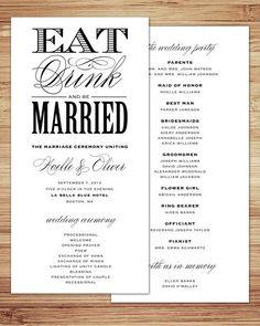 11 best simple wedding programs images wedding bells dream