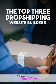 If you're planning to start a dropshipping business here are the top three dropshipping website builders that will you get started.    #dropshipping #website #beginner Starting An Online Boutique, Selling Online, E Commerce Business, Online Business, Sell Your Stuff, Things To Sell, Website Builders, Online Store Builder, Web Design Software