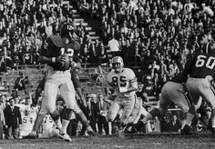 Joe Namath in the IRON BOWL 1964. First Televised Iron Bowl – Played on November 26, 1964. Quarterback Joe Namath led Alabama to a 21–14 victory over Auburn. Alabama finished the regular season 10–0, and won the SEC Championship. This was the second Iron Bowl whereafter the winner earned the AP National Championship. National championship trophies from the AP and UPI were awarded prior to the bowl games in 1964.  #Alabama #RollTide #BuiltByBama #Bama #BamaNation #CrimsonTide #IronBowl #RTR…