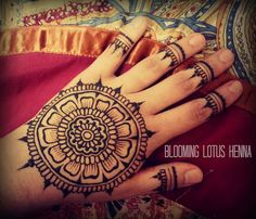 Petal Mandala Henna w/finger accents | Flickr - Photo Sharing!