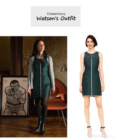 "March 12, 2014 @ 11:10 pm Sneak Peek of Tomorrow's Episode   Lucy Liu as Joan Watson in Elementary - ""The Hound of the Cancer Cells"" (Ep. 218).  Watson's Dress:Club Monaco ""Serina"" Dress $498 here. More Elementary Style here.  Source: CBS P.S. Updates on PINTEREST."