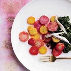 Lemony Beet and Beet Green Salad