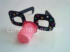 Gafas de payaso. Manualidades de disfraces para niños