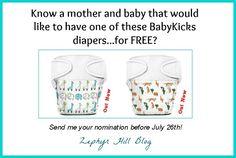Tell me who deserves a free diaper from BabyKicks!