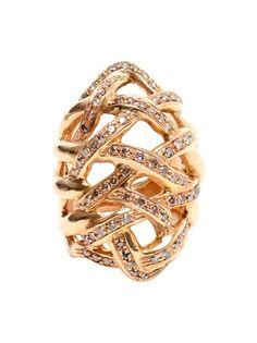 Pintaldi Maurizio Woven Rose Gold And Diamond Ring - Browns - mobile.farfetch.com