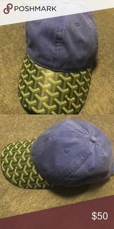 Goyard Hat Goyard Hat - Green Goyard Print on a Blue Hat Goyard Accessories  Hats 3c2cda312b4