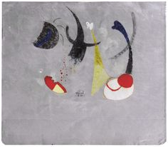Joan Miró, Painting, 1931.  Oil and collage on metal, 18,1 x 20 cm.