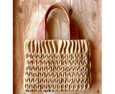 leather smocking bag
