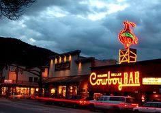 Jackson Hole, Wyoming.  Was told by a very reliable source, this place is a must!  Especially the 5 star restaurant below!