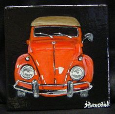 Classic  Voklswagen Beetle Convertible by ThisArtToBeYours on Etsy, $40.00