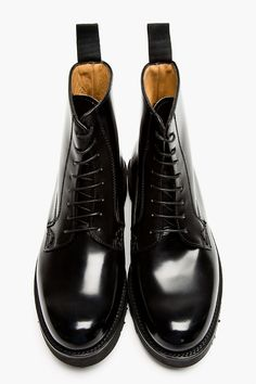 GRENSON SSENSE Exclusive Black Leather Double Sole Jake Books