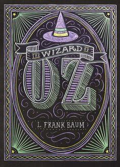 The Wizard of Oz (Puffin Chalk) von L Frank Baum… Book Cover Design, Book Design, Design Design, Interior Design, Graphic Design Magazine, Magazine Design, Wizard Of Oz Book, Wizard Oz, This Is A Book