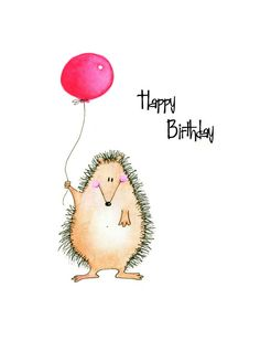 Happy Birthday greeting card Adorable by CartoonGirlDesigns