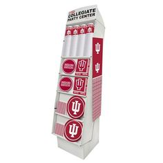 Collegiate Floor Display Indiana University/Case of 126 Tags: Indiana University; Floor Display; Collegiate; Indiana University Floor Display;Indiana University party decorations; https://www.ktsupply.com/products/32786322991/Collegiate-Floor-Display-Indiana-UniversityCase-of-126.html