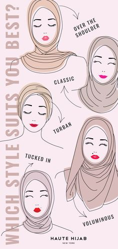 What is your characteristic hijab style? Visit our Definitive Hijab Style G . What is your characteristic hijab style? Find out in our definitive Hijab Style Guide! , What& your signature hijab style? Head over to our Defin. How To Wear Hijab, Hijab Wear, Hijab Outfit, Turban Hijab, Muslim Fashion, Hijab Fashion, Fashion Dresses, Islamic Fashion, Women's Fashion