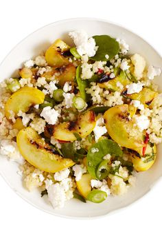 Couscous Salad With Grilled Squash, Feta, And Mint Recipe