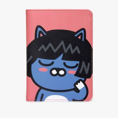 KAKAO FRIENDS Neo Synthetic Leather Passport Cover Card Holder Wallet 27 #KakaoFriends
