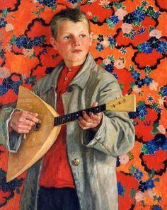 Balalaika Player. Nikolai Bogdanov-Belski (1868 – 1945, Russian)