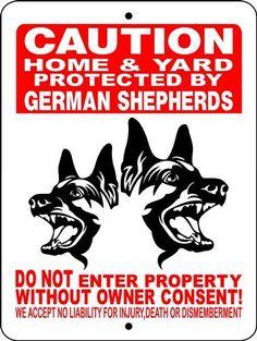 GERMAN SHEPHERD ALUMINUM SIGN H2496HYGSM
