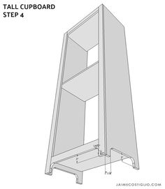tall cupboard - buildsomething.com Diy Kitchen Storage Cabinet, Cupboard, Diy Furniture Building, Home Remodeling, Farmhouse Style, Basement, Shelves, Bathroom, Home Decor