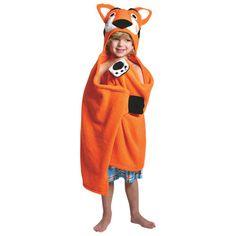 Se sécher après la baignade ou un bain est beaucoup plus amusant avec ces serviettes à capuche de ZOOCCHINI. Votre enfant aimera porter cette serviette de Travis le tigre et la sensation douce du 100 % coton contre leur peau. Et q... Obtenez la livraison gratuite sur les commandes de plus de 25 $.