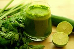 This Powerful Green Drink Combined With Exercise Will Help You To Lose Weight Very Fast Recipe Beverages with parsley, lemon, water