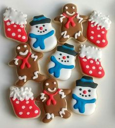 Christmas mini sugar cookies with royal by SweetArtSugarCookies