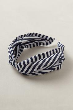 Nautical Twirled Turban Headband for 4th of July