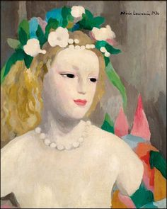 Marie Laurencin - femme au collier -1936  https://www.artexperiencenyc.com/social_login/?utm_source=pinterest_medium=pins_content=pinterest_pins_campaign=pinterest_initial