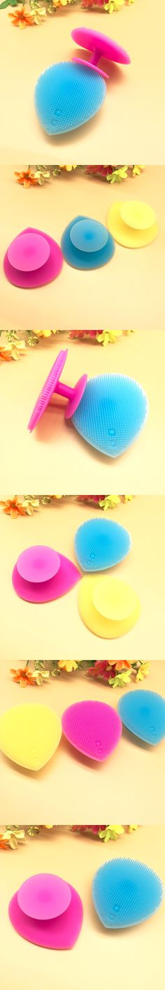 Top Sale 1 PC Silicone Heart Shaped Face Washing Brush Facial Cleaning Pad Exfoliating SPA Skin Scrub Random Color
