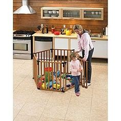 @Overstock - Keep your little ones safe as they play in this wooden North States superyard. Its extra-tall height and lockable gate offers unlimited protection and it can even be assembled as a barrier to protect your child from a fireplace or staircase.http://www.overstock.com/Baby/North-States-3-in-1-Wood-Superyard/4674933/product.html?CID=214117 $180.99