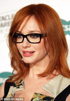 Christina Hendricks, love these glasses!