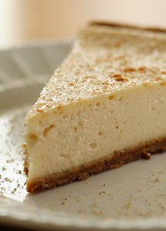 Vegan Eggnog Cheesecake -- Low-fat and Delicious!